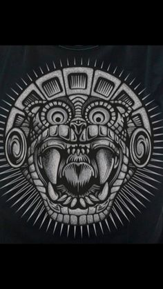 """Pay close attention to whatever triggers reactions from you - your triggers reveal the spot where an ancient pain is still buried. Aztec Symbols, Mayan Symbols, Aztec Tattoo Designs, Aztec Designs, Skull Tattoos, Sleeve Tattoos, Totems, Jaguar Tattoo, Mayan Tattoos"