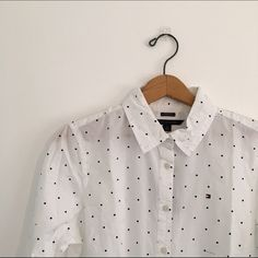 NWT Polkadot Blouse NWT Tommy Hilfiger Tops Button Down Shirts