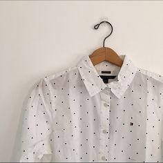 NWT Polkadot Blouse NWT Tommy Hilfiger Tops Button Down Shirts