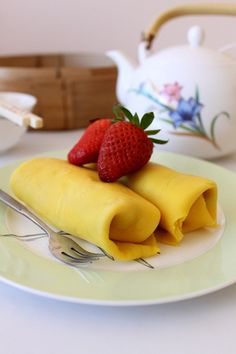 Yum Cha style mango pancakes - my boyfriend is crazy about these.