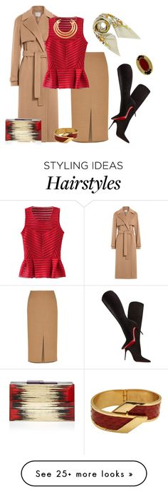 """""""outfit  2547"""" by natalyag on Polyvore featuring Jason Wu, Jaeger, Christian Louboutin, Rauwolf, Aurélie Bidermann, Moschino and House of Harlow 1960"""