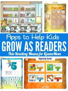 Fun apps helping kids to be good readers -- from alphabet sound, to short vowel words, to long vowel words, … till kids can read.