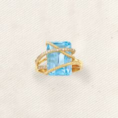 14k Gold earrings Sky blue topaz square cluster cocktail statement geometric style center located stud post womens naturalfine jewelry