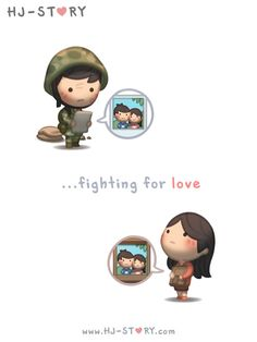 Love is a battle where both people must be strong and fight together to overcome all obstacles.