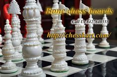 Shop for bone chess boards for Sale from India at wholesale prices. Lowest price guaranteed   #bonechessboards