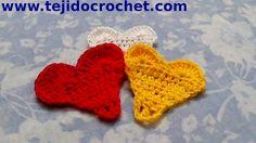 Corazon mini en tejido crochet tutorial paso a paso.