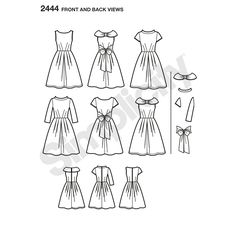 Misses' dress pattern with collar and sleeve variations. Simplicity sewing pattern inspired by Project Runway. Croquis kit™ included with each Project Runway pattern allows you to be your own designer.