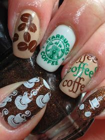 Starbucks nails…this might be taking your coffee obsession a little too far. Starbucks nails…this might be taking your coffee obsession a little too far. Crazy Nail Art, Crazy Nails, Pretty Nail Art, Love Nails, Best Acrylic Nails, Acrylic Nail Designs, Nail Art Designs, Starbucks Nails, Food Nail Art