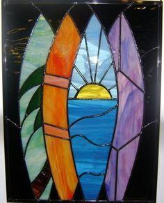 Hawaiian islands stained glass