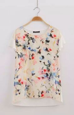 Floral Chiffon T-Shirt – Trendy Road