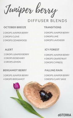 Juniper Berry Diffuser Blends #EczemaEssentialOils