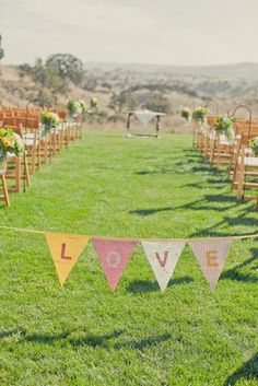 Sweet and festive paper goods used in the ceremony Photo by onelove photography