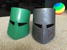 Edit: Link to PDF template . The other day I decided that my three year old son needed a knight helmet for our foam sword fights, so ...