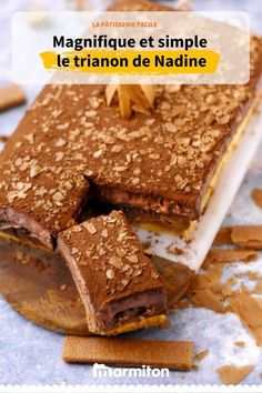 Trianon or royal cake recipe. A beautiful pastry and yet very Brownie Recipes, Cheesecake Recipes, Meat Recipes, Dessert Recipes, Recipes Dinner, Royal Cake Recipes, Royal Cakes, Glaze For Cake, Sugar Free Recipes