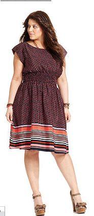 Polka Dot Printed Dress by American Rag