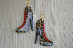 Hey, I found this really awesome Etsy listing at https://www.etsy.com/listing/235055224/leopard-print-stiletto-earrings