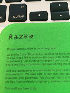 #noturningback #razer