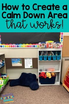 Update the calm down corner with a new name and learn how to make a calm down space work for all the students in your kindergarten classroom. Create a safe and welcoming place for kids to learn how to self-regulate their emotions. Space Classroom, Toddler Classroom, Classroom Setting, Classroom Organization, Preschool Classroom Management, Classroom Ideas, Calm Classroom, Future Classroom, Calm Down Corner
