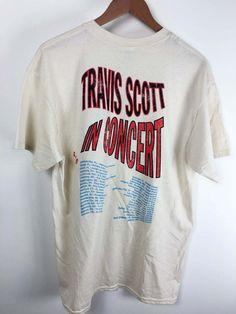 29528e7f0192 Travis Scott rodeo tour merch white vintage washed t - shirt US sz.
