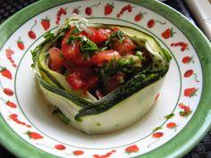 A B C vos IG: Tagliatelles de courgette, sauce à la tomate crue ...