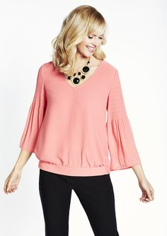 cleo - Bell Sleeve Blouse