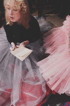 Frothy tulle at Molly Goddard AW15. More Molly Goddard: http://www.dazeddigital.com/fashion/article/23733/1/molly-goddard-aw15