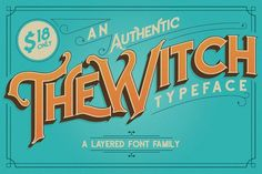 The Witch Typeface by Paperwitch on @creativemarket