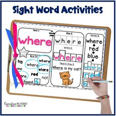 Sight word activities, games, and printable worksheets are great easy to teach sight words. When teaching sight words practicing at home is important too. Find fun ideas in this post! #sightwords #kindergarten #firstgrade #secondgrade #thirdgrade #conversationsinliteracy 1st grade, kindergarten, second grade, third grade