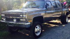 1989 Chevy Crew Cab Dually 4x4 Trucks Dually Trucks
