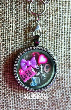 Hair Stylist Black Crystal Bling Locket  Necklace  by RepliKitty www.replikitty.etsy.com #hair #stylist #blowdryer #cameo #dryer #pinkcameo #bow #kawaii #pastel #bling #crystal #client #gift #christmas #holiday #present #idea #school #graduate #shears #comb #heart #barber