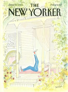 """The New Yorker - Monday, June 11, 1984 - Issue # 3095 - Vol. 60 - N° 17 - Cover by : """"Sempé"""" - Jean-Jacques Sempé"""