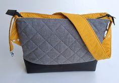 Wickeltaschen - ♥ Wickeltasche / Kinderwagentasche senfgelb ♥ - ein Designerstück von KleinsterHerzebaer bei DaWanda