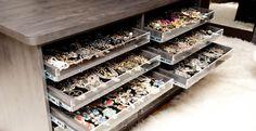 jewelry storage in closet