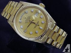 for sale, The original Rolex solid yellow gold case with fluted bezel is in super exce. Americanlisted has classifieds in Keller, Texas for watches and jewerly Day Date President, High End Watches, Michael Kors Watch, Gold Watch, Rolex Watches, Presidents, Dating, Yellow, Pools