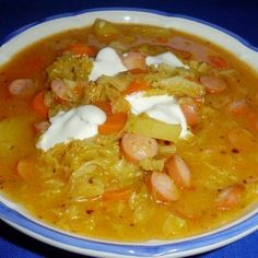 Soup Recipes, Diet Recipes, Vegan Recipes, Cooking Recipes, Hungarian Recipes, Hungarian Food, Just Eat It, Breakfast Time, Food 52