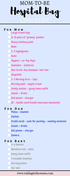 Hospital Bag Checklist for Mom's-to-Be #pregnancy1sttrimester #pregnancyhealth