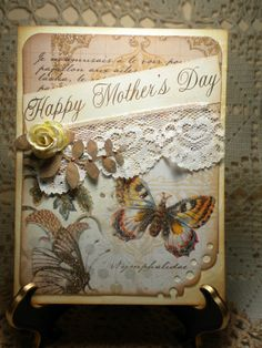 Vintage Style Card Happy Mother's Day