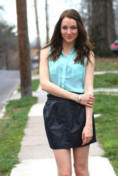 styling leather for spring | lenore lamé