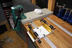 Official Reloading Bench Picture Thread - Now with more Pictures… Reloading Table, Reloading Bench Plans, Reloading Brass, Reloading Room, Reloading Equipment, Workbench Plans, Shooting Bench Plans, Shooting Table, Workbench Designs