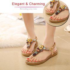 377dc7947eeafa  13.84 - Women s Vogue Beach Beaded Sandals