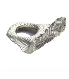 Ute Decker: Ring 'Emotional topography'. Molten matte. Individually hand cast in silver recycling.
