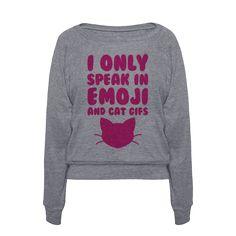 A sweatshirt to warn the general public.