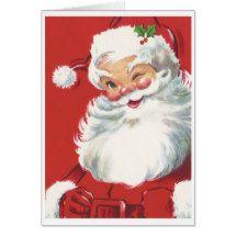 Santa Claus Vintage Christmas Card | Zazzle