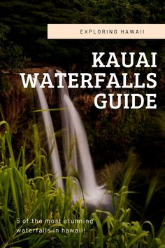 Visiting Hawaii? Don't miss out on the stunning waterfalls in Kauai! This guide will give you the info you need to discover the five most stunning waterfalls in Kauai Hawaii! Travel Articles, Travel Info, Travel List, Us Travel, Kauai Hawaii, Hawaii Travel, Kauai Waterfalls, Kauai Island, Visit Hawaii