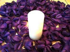 Tanday 100 Purple Luxury Hand-Cut Silk Rose Petals on Etsy, $5.55 AUD