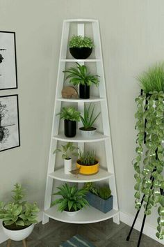 Plant Stand, Corner Plant, House Plants Indoor, Small Balcony Decor, Plant Decor Indoor, Corner Decor, Plant Decor, Plant Shelves, Flower Stands