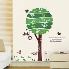 The Happiest Place Happy Tree Wall Stickers by walloo