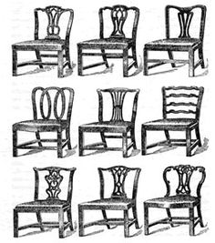 Antique Chairs, Antique Furniture, Chippendale Chairs, Furniture Styles,  Furniture Design, Design History, Colour Palettes, Chinoiserie, Close Image