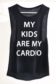 No need for the gym when you have little ones to run after! This is the perfect tank for every mom on the go.