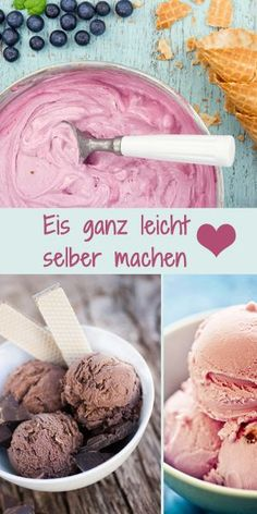 Homemade blueberry ice cream on vintage light blue. - Homemade blueberry ice cream on vintage light blue wooden background Die besten Eisrezepte findet - Best Ice Cream, Make Ice Cream, Ice Cream Maker, Blueberry Ice Cream, Frozen Yoghurt, Ice Ice Baby, Homemade Ice, Health Desserts, Ice Cream Recipes